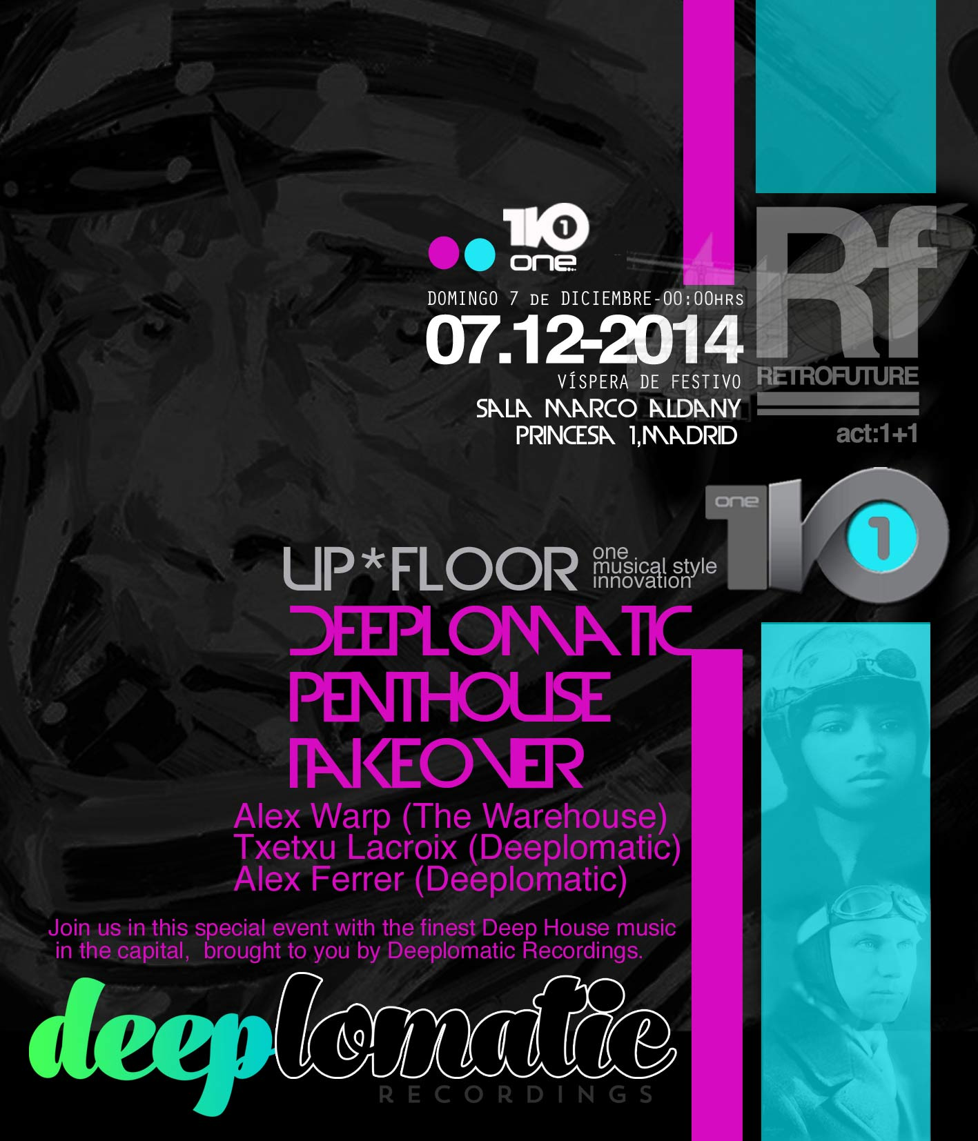 Deeplomatic Penthouse Takeover @ Sala Marco Aldany, Madrid