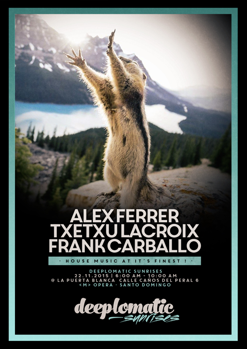 Deeplomatic Sunrises with Alex Ferrer, Txetxu Lacroix and Frank Carballo @ La Puerta Blanca, Madrid