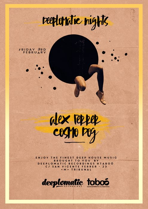 Deeplomatic Nights Presents Alex Ferrer And Cosmo Dog @ Taboo