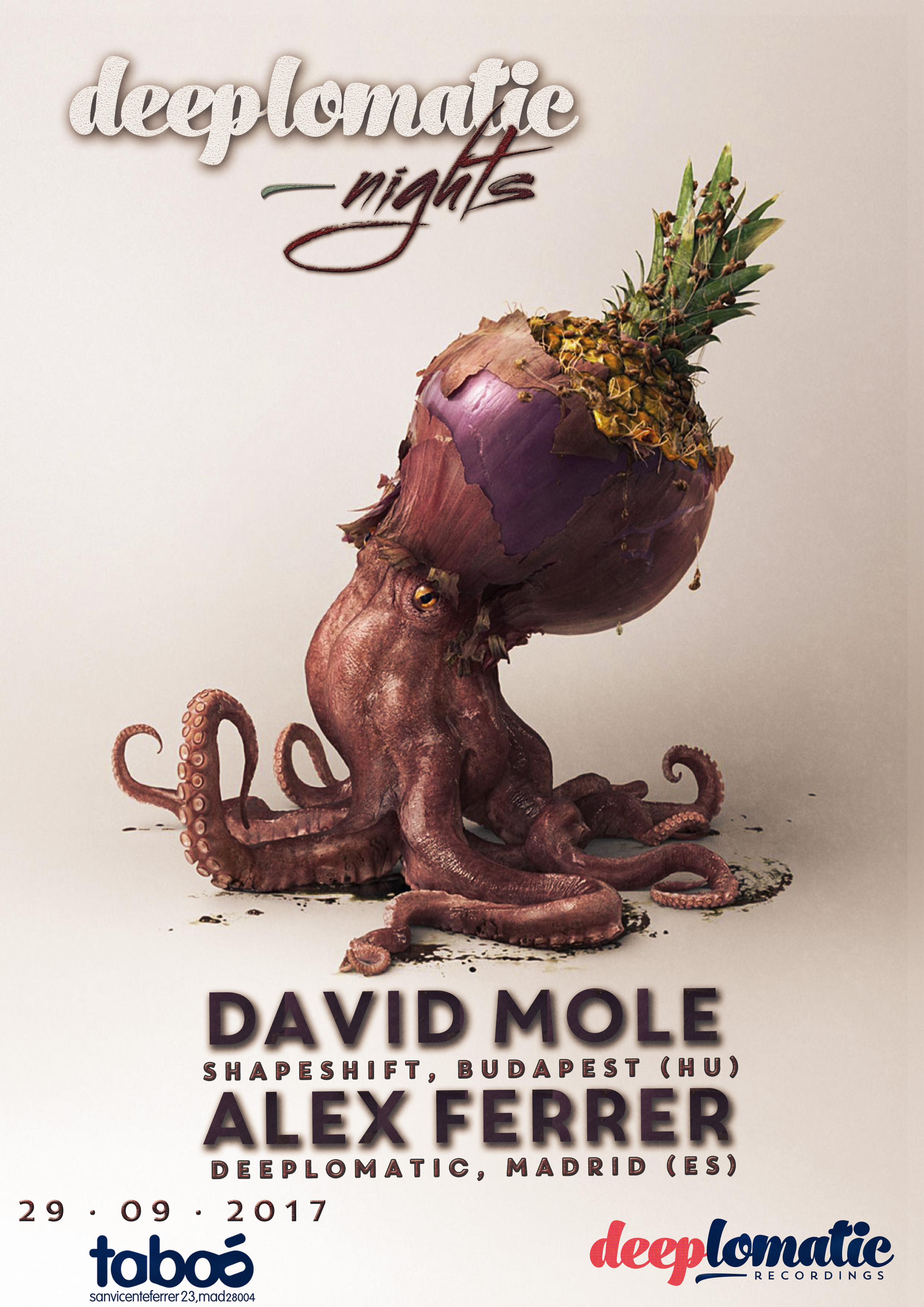 Deeplomatic Nights with David Mole & Alex Ferrer at Taboo