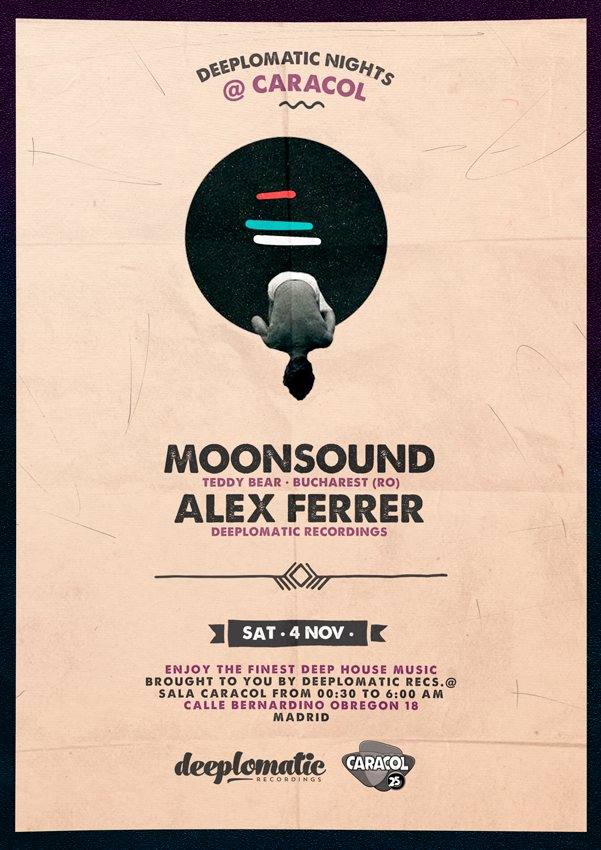 Deeplomatic Presents MoonSound And Alex Ferrer @ Sala Caracol