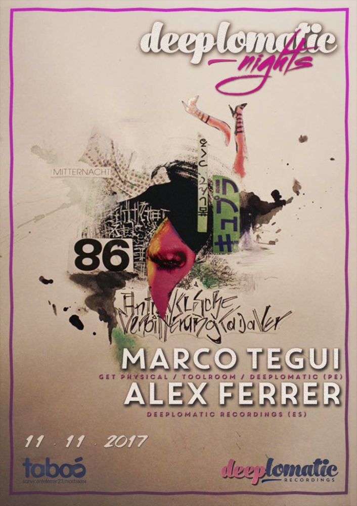 Deeplomatic Nights Presents Marco Tegui And Alex Ferrer @ Taboo